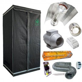 Kit Homebox Classic L (100x100x200) Cooltube con Reflector Eti Block 400W